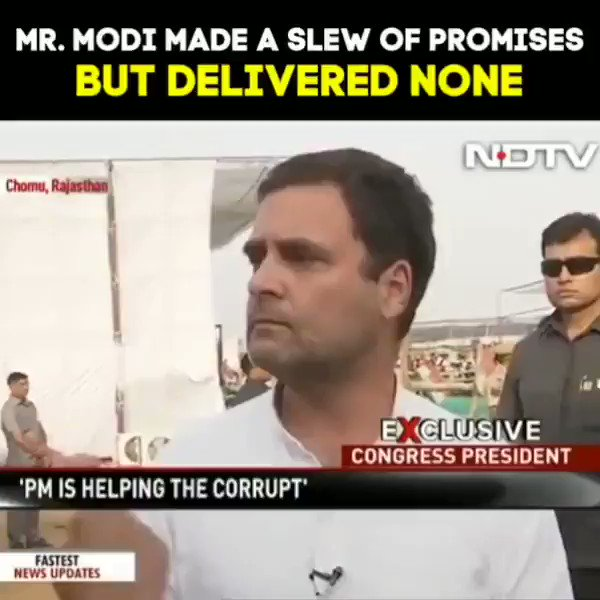 Mr.Modi made a slew of promises but delivered none.  #RahulBadlegaIndia