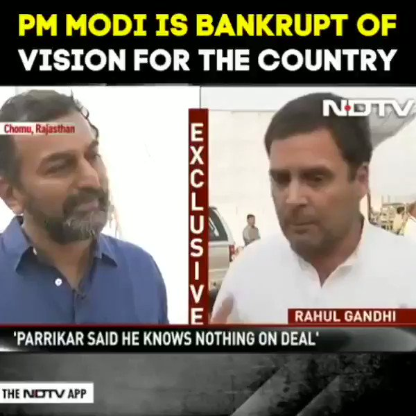 PM Modi is bankrupt of vision for the country.  #RahulBadlegaIndia