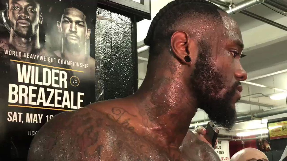 "Deontay Wilder says it's legal in boxing to ""kill a man and get paid for it at the same time ... so why not use my right to do so?""  (via @ryansongalia)"