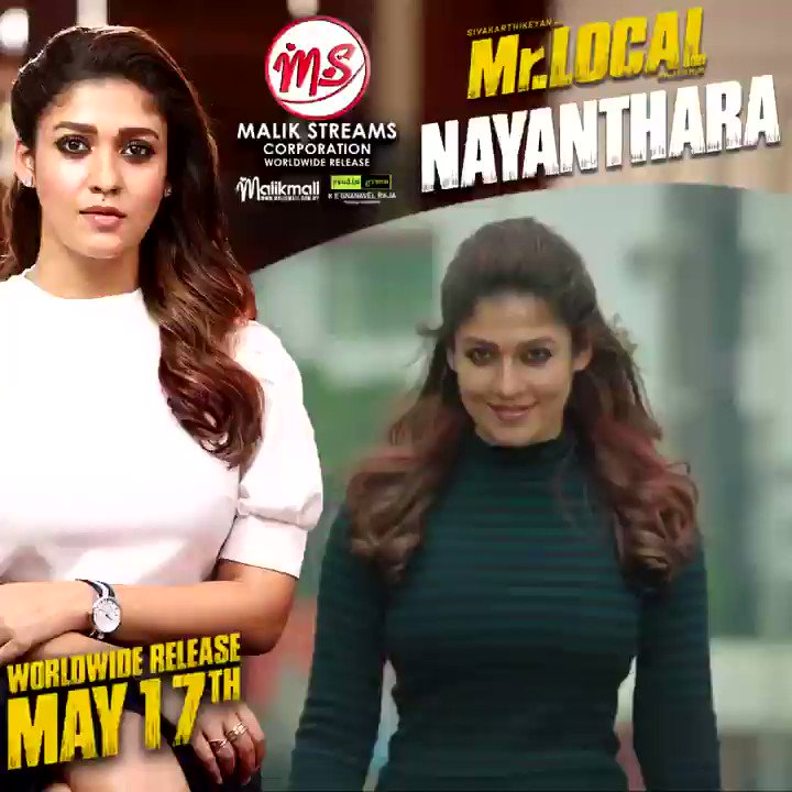 Specially dedicated to all #Ladysuperstar fans out there. Show some love for #Nayanthara pairing again with #Sivakarthikeyan in #MrLocal releasing worldwide this May 17th! Don't miss it 🔥 . #sk #malikstreams #msc #hiphoptamizha #rajeshm #siva #nayan #tamilcinema #takkunutakkunu