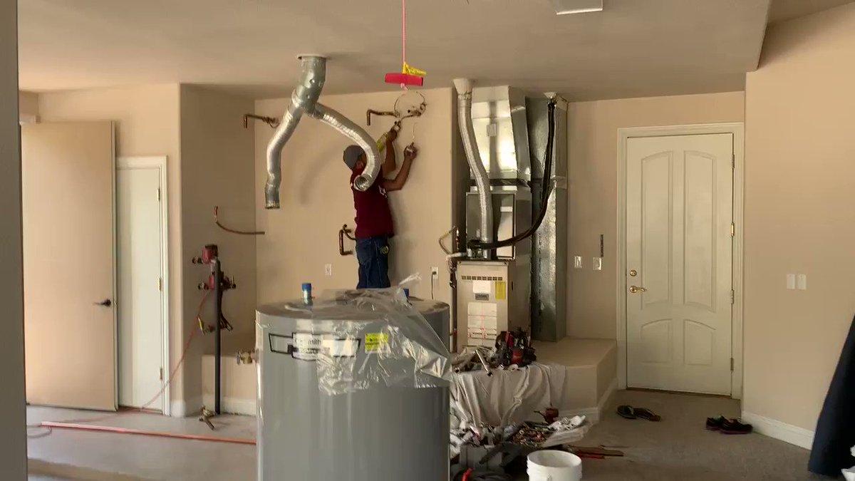 Image for the Tweet beginning: @BobsRepair contractor Luis Perez installing