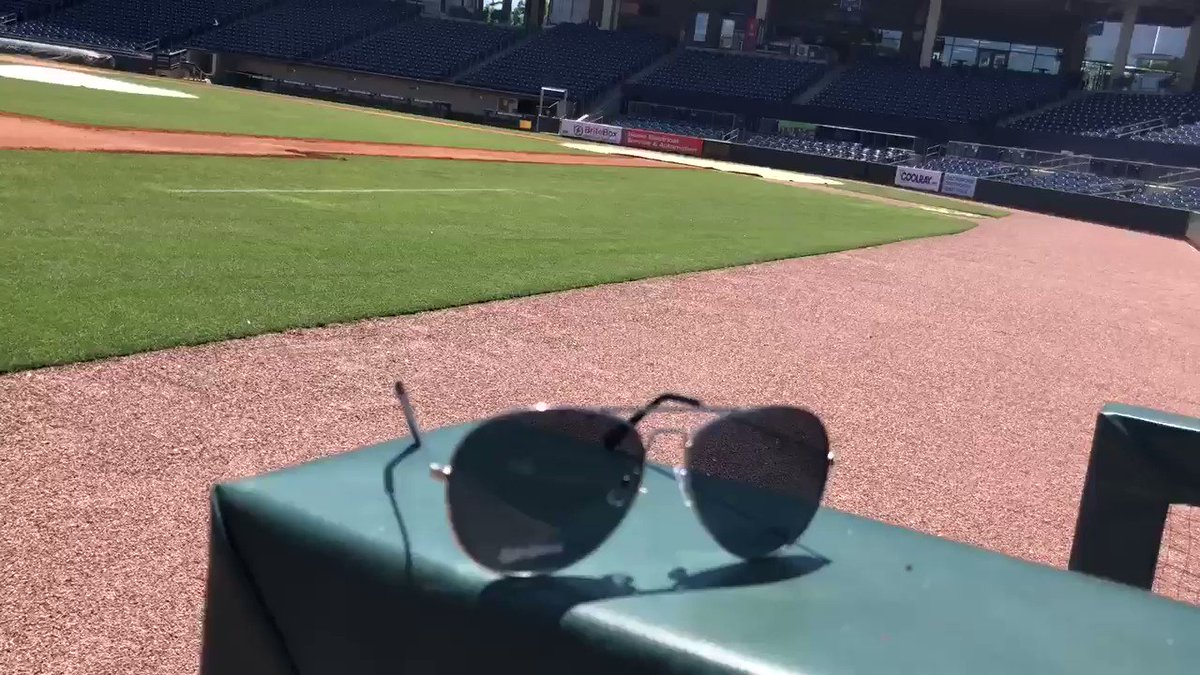 We're giving away these Stripers aviators at our next @AaronsInc Swag Monday!   🎟 http://bit.ly/Tix5-27-19