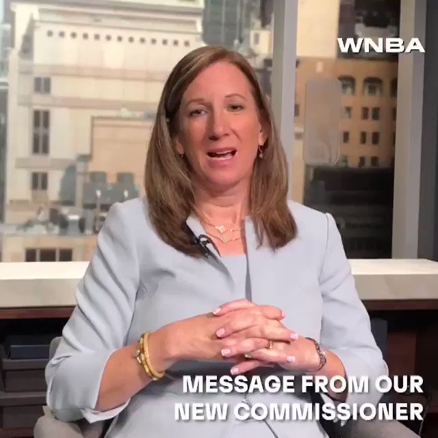 A message from Cathy Engelbert, the first-ever WNBA Commissioner 🗣