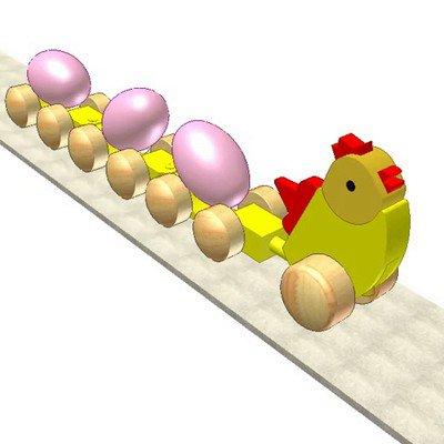 Pulling Eggs Hen