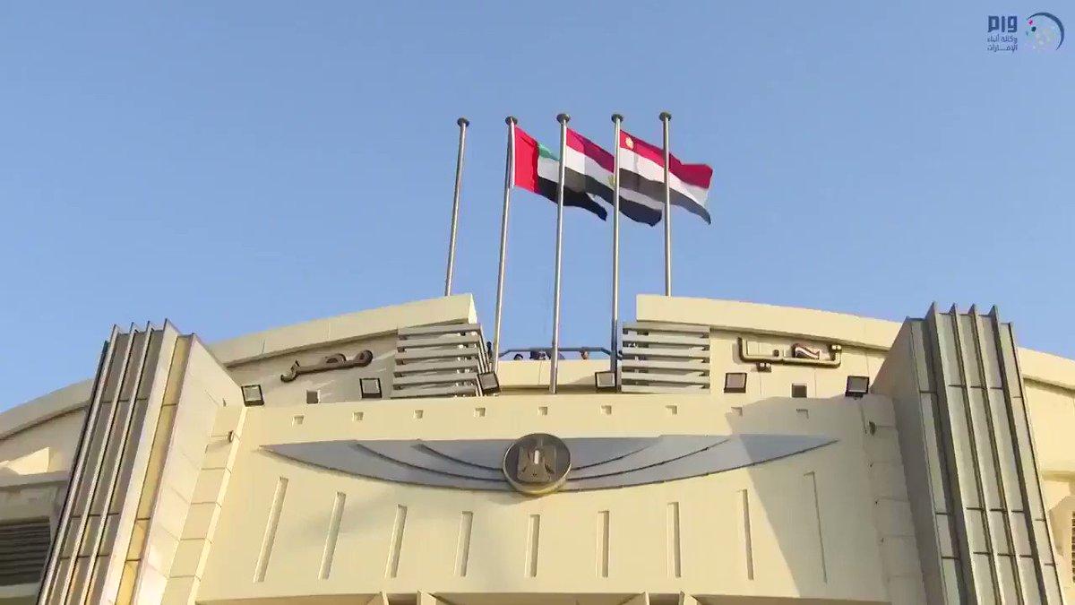 فيديو : الرئيس المصري عبدالفتاح #السيسي يستقبل صاحب السمو الشيخ #محمد_بن_زايد آل نهيان في مطار #القاهرة