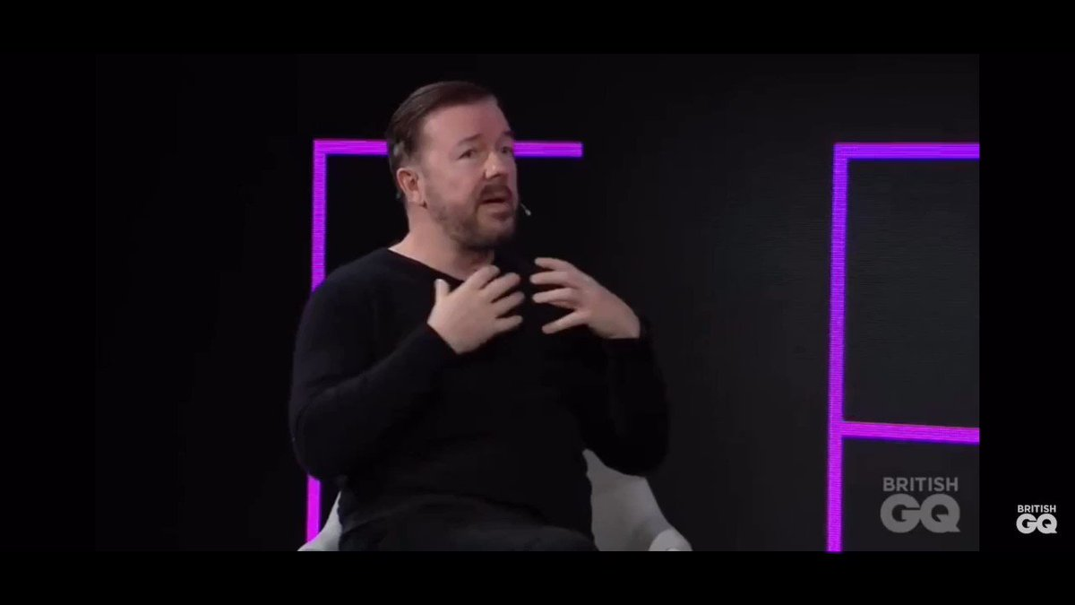 Ricky Gervais discussing offence.