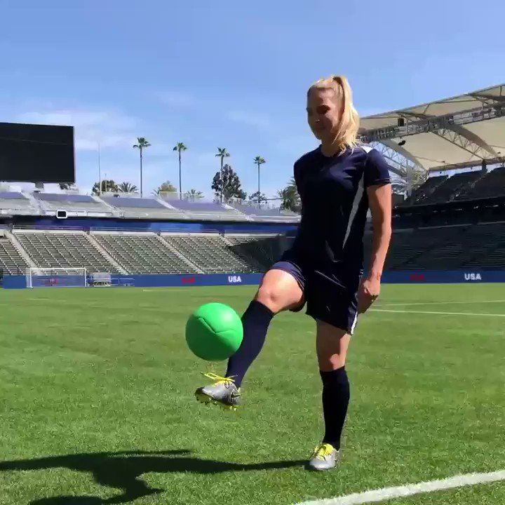 I'm selling out for a cause with @hulu and you can too. Say 'Hulu has live sports' while juggling, add #HuluHasLiveSportsChallenge, and tag a friend! Hulu will donate $1 to the @NWSL_players for every post, up to $100k. You're up @ZERTZ_86 and @crysdunn_19! #HuluSellouts #ad