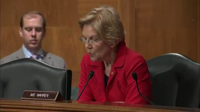 Treasury official Joseph Otting: Sen. Warren, no one has been more tougher on Wells Fargo than myself. ... Warren: You mean at the OCC? Thats a low bar. Otting: I would disagree with that. I find that insulting that you would make that comment. Warren: Good. Via The Hill