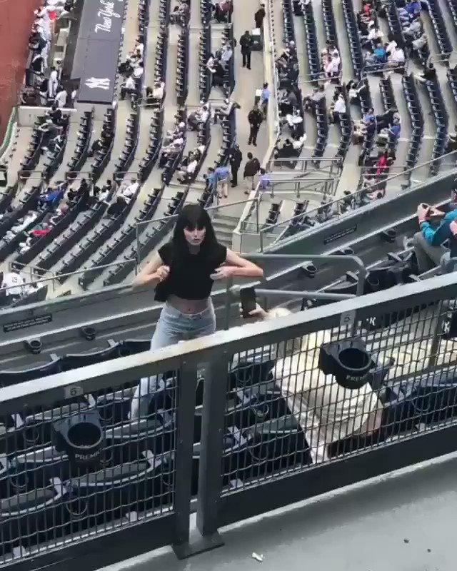 BIG baseball fan at the Yankees game today