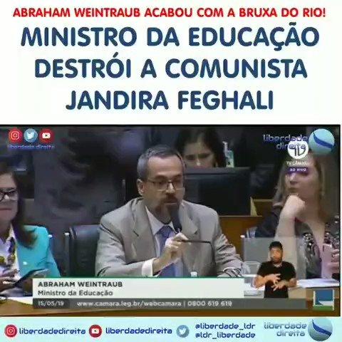 Enquanto esses canalhas não forem banidos, o Brasil vai continuar na lama! Ministro da #educação Abraham Weintraub detona a comunista Jandira Feghali #Brasil #educação #foraesquerda #comunismonão #forajandira #forajandirão #jandirão #ptnão #ptnuncamais #foraptpic.twitter.com/IwTjQSzXg9