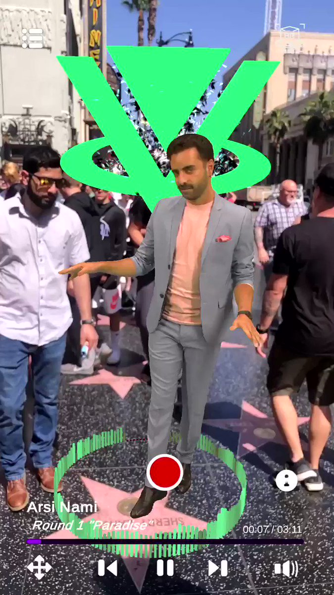 Image for the Tweet beginning: Holograms on Hollywood BLVD!!! Download