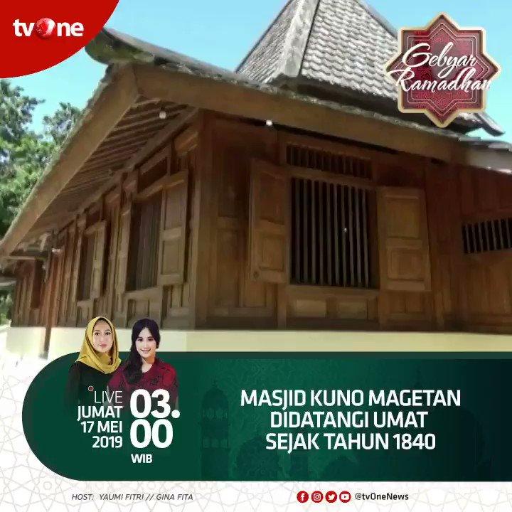 Masjid kuno Magetan didatangi umat sejak tahun 1840.Nantikan Gebyar Ramadhan Jumat, 17 Mei 2019 jam 03.00 WIB hanya di tvOne & streaming di tvOne connect, android http://bit.ly/2CMmL5z  & ios http://apple.co/2Q00Mfc #GebyarRamadhantvOne #RamadhanditvOne