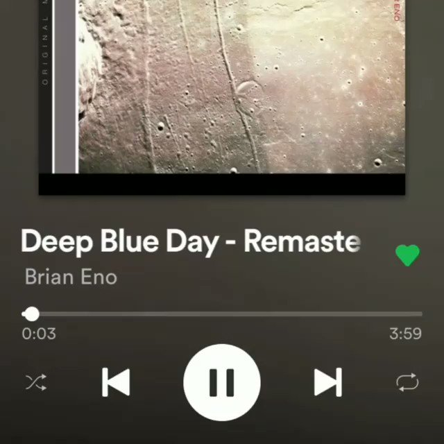 """Spotify's """"Storylines' makes its UK artist premiere with """"Weightless"""" and """"Deep Blue Day"""". BrianEno.lnk.to/ThisIs"""
