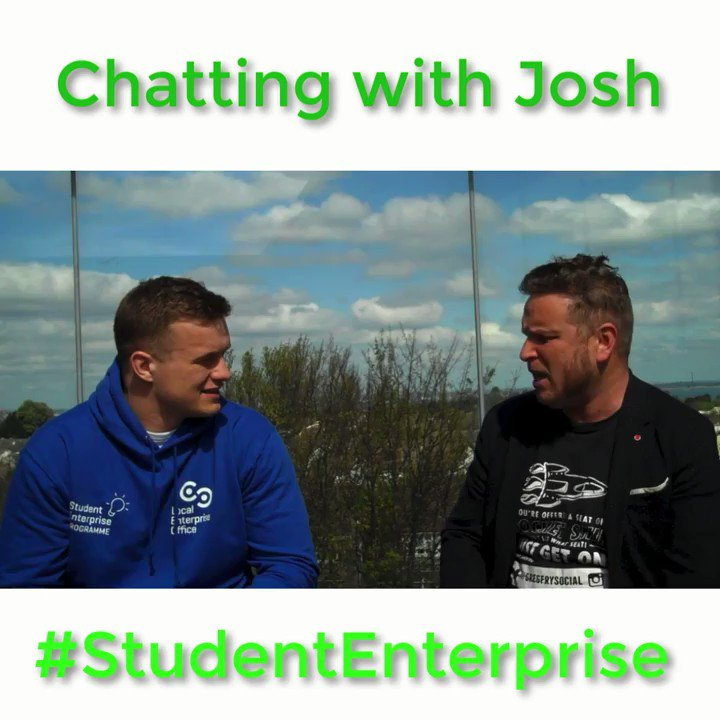 Image for the Tweet beginning: What would #StudentEnterprise ambassador @JoshVDF