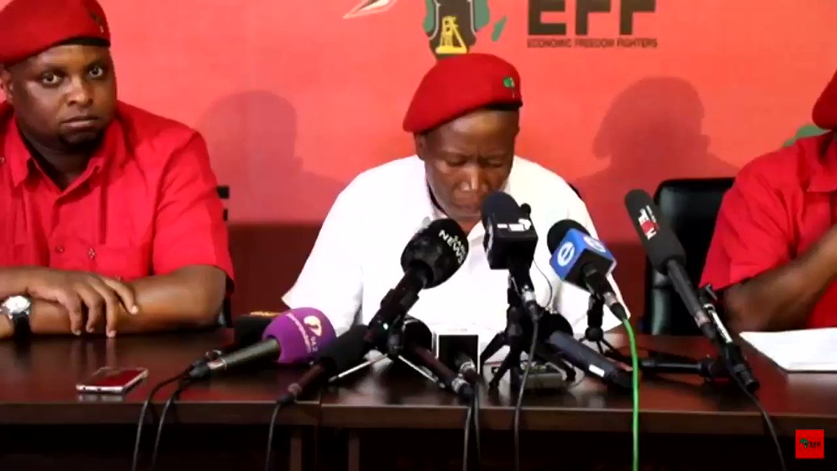 "French journalist asked about ""tensions"" in SA & ofcoz @Julius_S_Malema had to put him in his place - HARD 😂🤣 #EFFPresser"