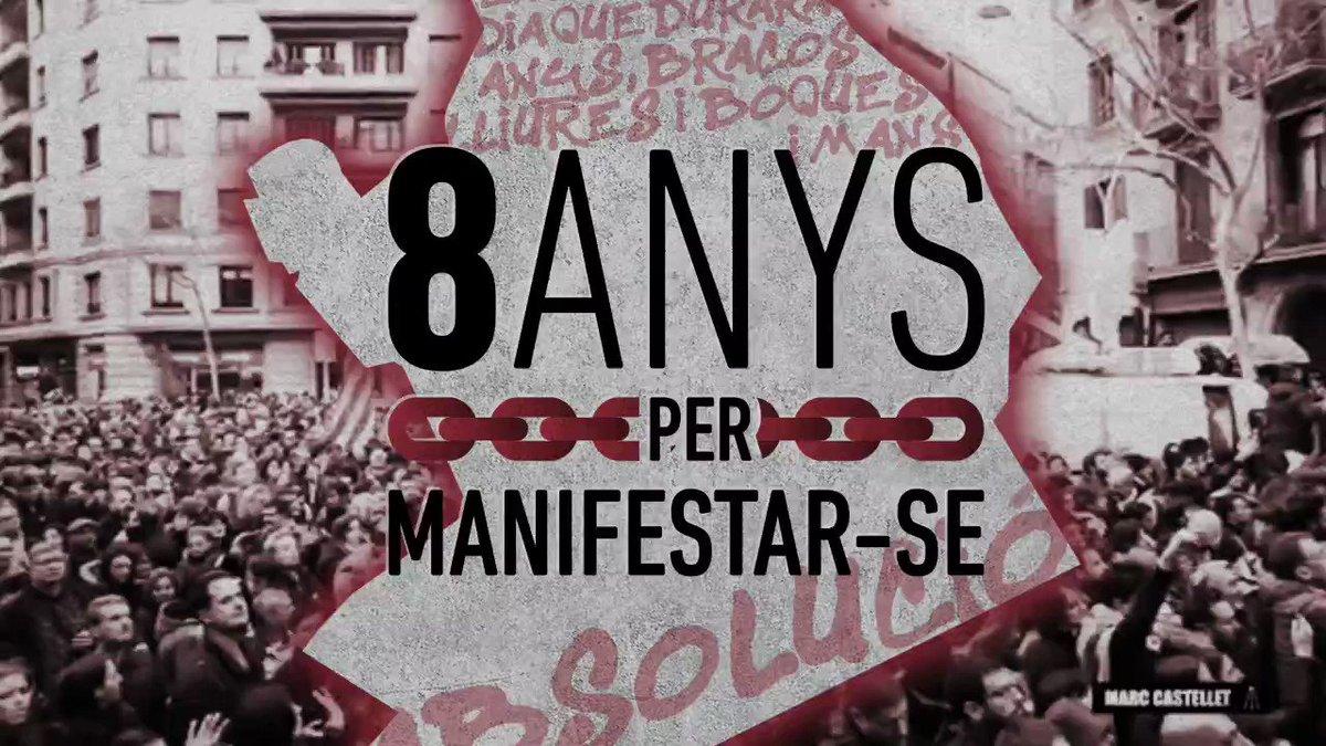 La #REPRESSIÓ no s'atura! 2 veïnes de #LHospitalet enfronten fins a 8 anys de presó per manifestar-se el 25 març 2018 a BCN. Sense proves, el JUDICI serà el 8 de Juliol. Ens volen callades, però la mobilització popular mai pararà! Exigim #AbsolucióLaiaLluís! #8ANYSxManifestarse