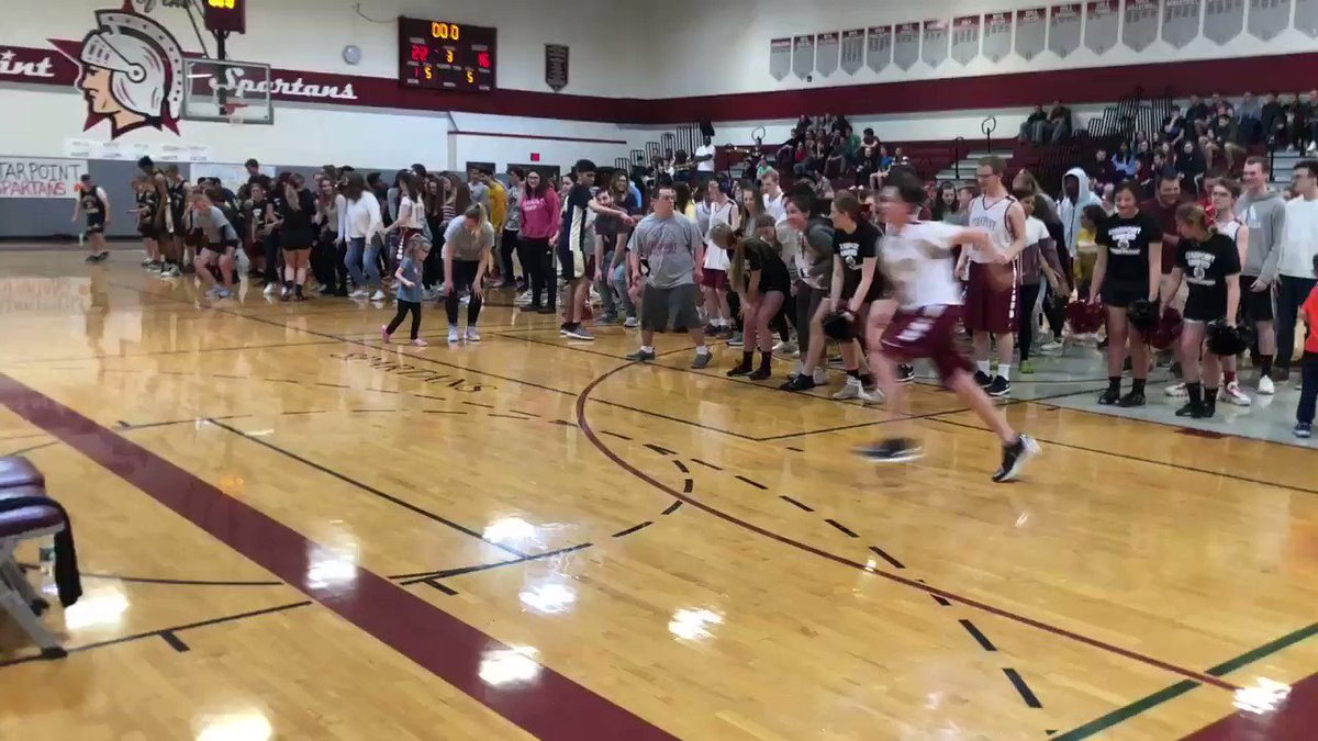 #onestarpoint in action. Halftime dance party @scsdunified basketball game between @SHUnified and @scsdunified @StarpointCSD Stands filled with students from all 4 buildings! @SectionVI @WGRZ @news4buffalo @WKBW @LockportJournal