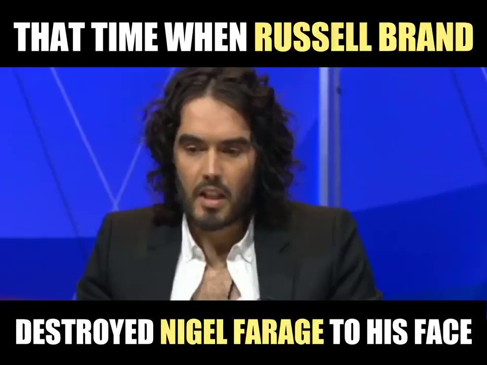 The critique of Nigel Farage on the BBC is often weak and shallow and misses the point to why he is so dangerous. However there was an exception which was that time when Russell Brand exposed Farage for exactly what he is live on #BBCqt