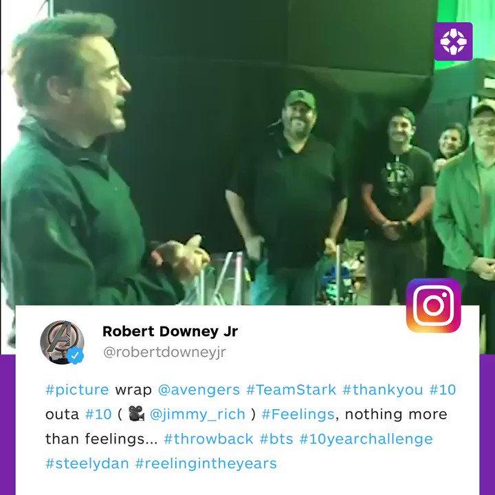 Thats a wrap on @RobertDowneyJr! #AvengersEndgame ❤