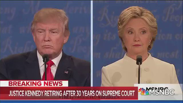 """""""Do you want to see the court overturn Roe v. Wade?""""  TRUMP in 2016: """"That'll happen automatically...because I am putting pro-life justices on the Court.""""  What's happening in Alabama and states around the country was part of Trump's plan. We need to fight like hell to stop it."""