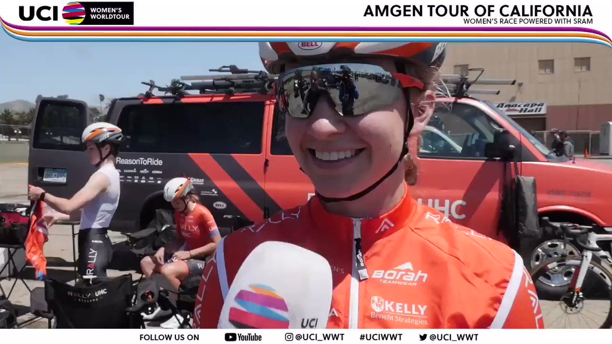 🚨🎙We spoke to @emmabeancx of @RallyUHCcycling at the start of the #AmgenTOCWomen - here's her #UCIWWT pre race interview!