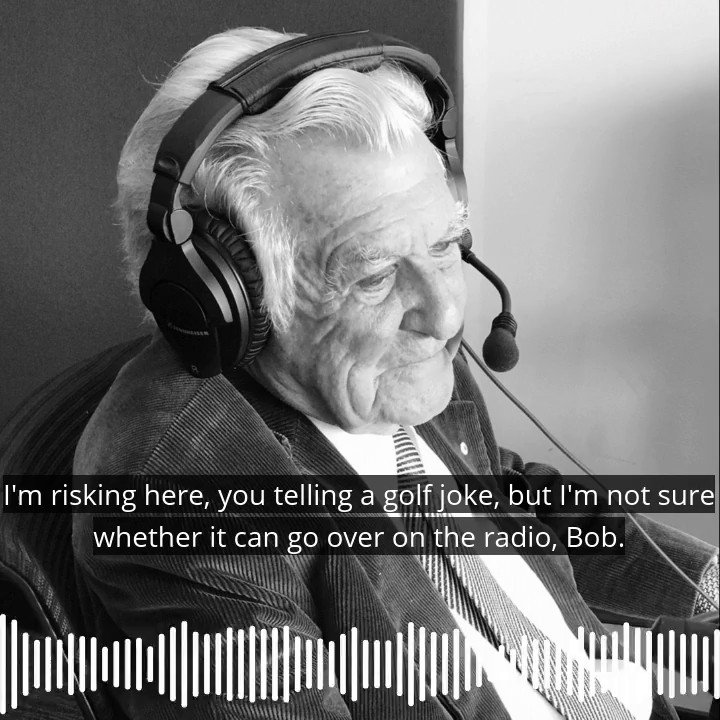 🔊😂 Bob Hawke had many jokes … and the one he delivered about Jesus, Moses and Jack Nicklaus left the @ABCGrandstand commentary box in a fit of laughter. 🏌⛳ #RIPHawkie