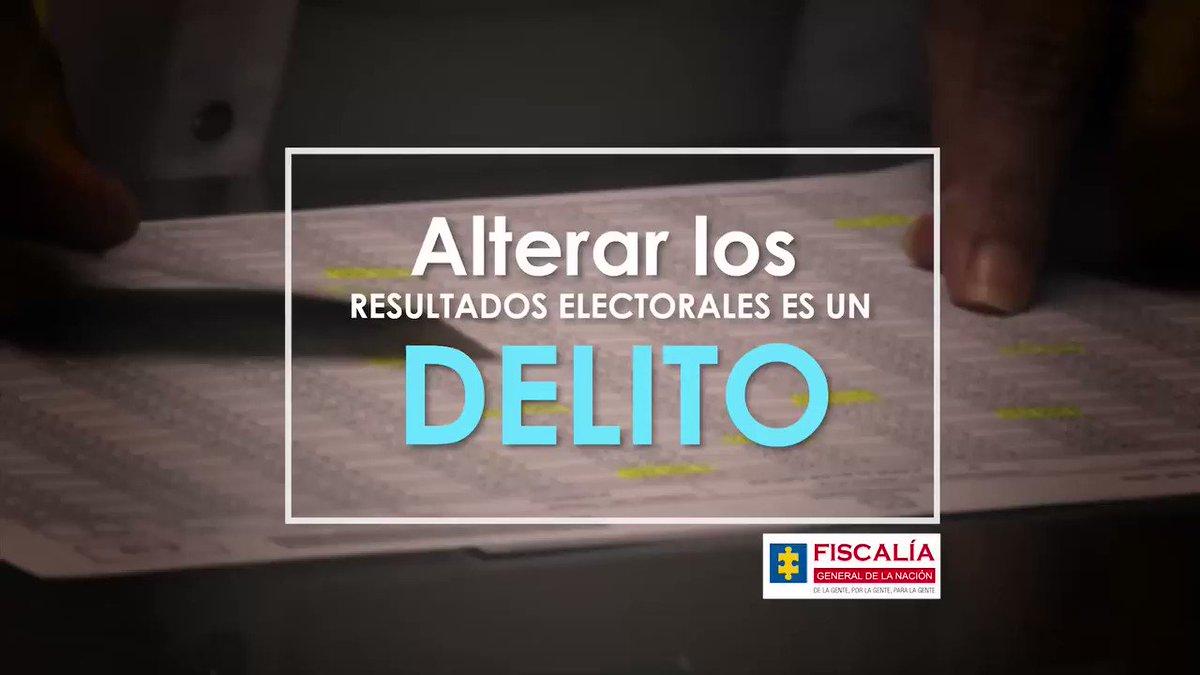 Alterar los resultados electorales es un delito. Denuncie cualquier irregularidad en la línea 122 y diga SÍ al #VotoResponsableyLibre