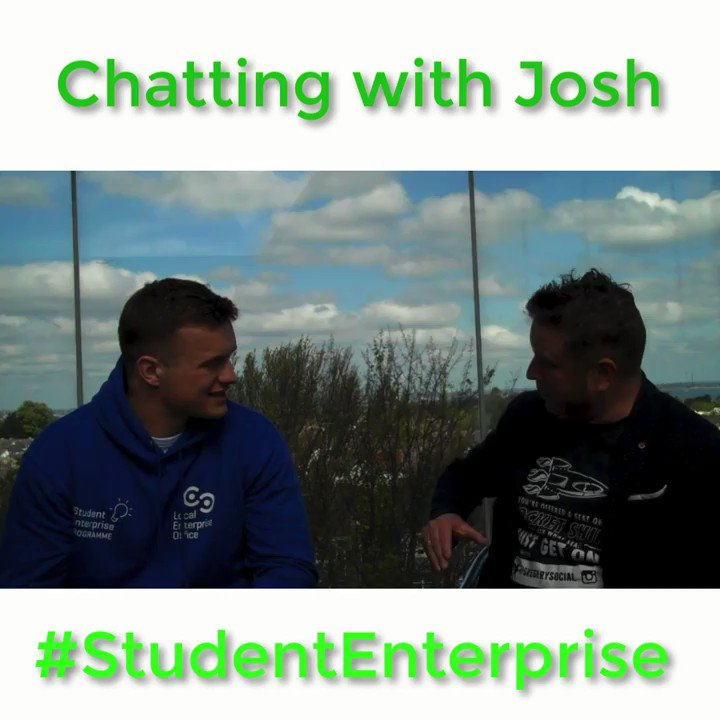 Image for the Tweet beginning: Advice from #StudentEnterprise ambassador @JoshVDF