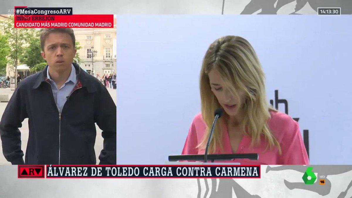 Hay que tener un poco más de respeto. Mientras Cayetana Álvarez de Toledo se criaba entre algodones @ManuelaCarmena estuvo a punto de ser asesinada por defender a los trabajadores y las libertades en España. Este PP sólo sabe sembrar odio. Son un lastre para el futuro de Madrid