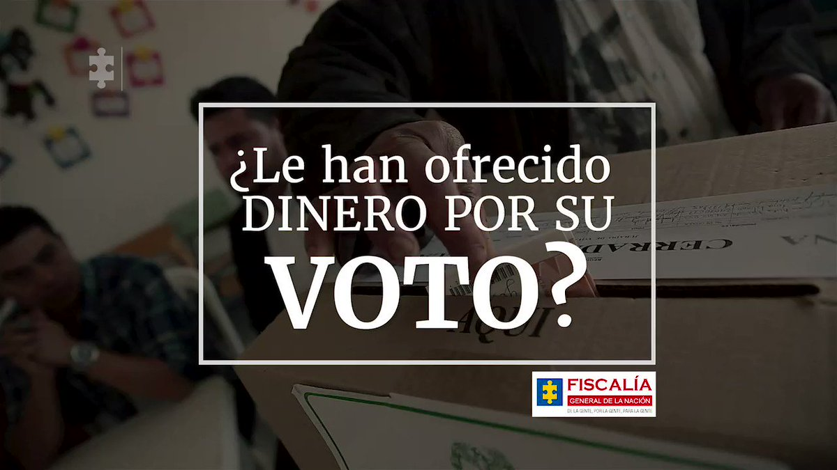 ¿Le han ofrecido dinero por su voto? ¡Mucho cuidado, esto es un delito! Se llama corrupción al sufragante y lo comete tanto quien compra los votos como quien los vende. Diga SÍ al #VotoResponsableyLibre