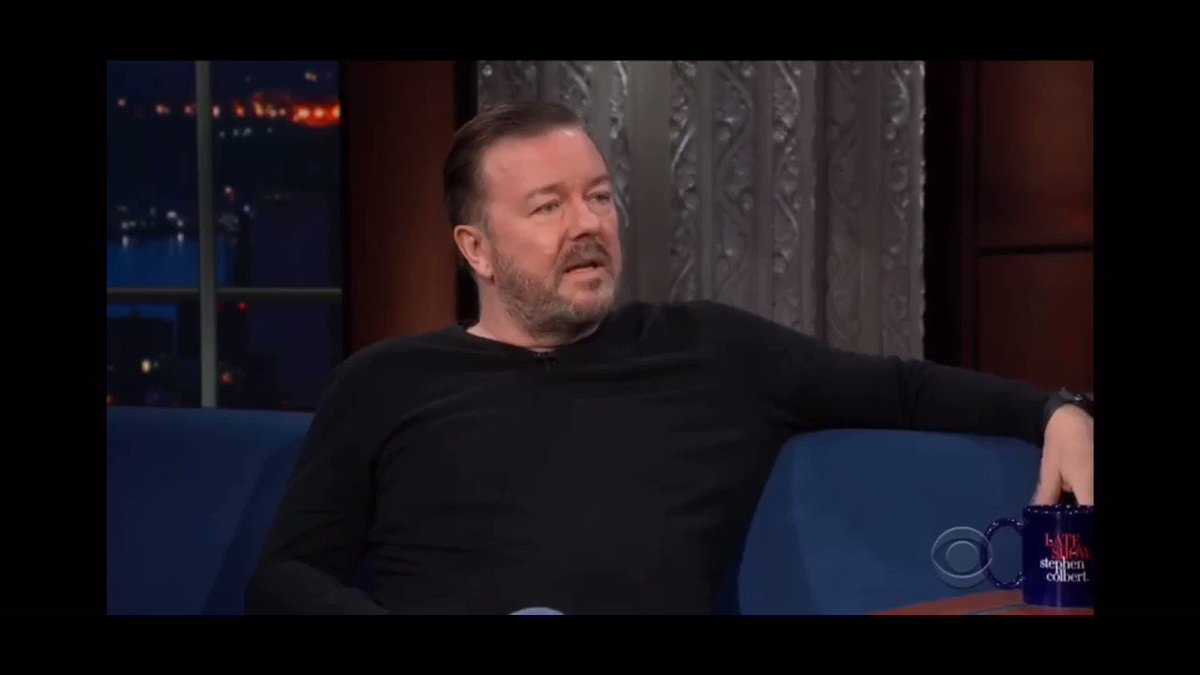 Ricky Gervais discussing why he thinks Dogs are better than God.