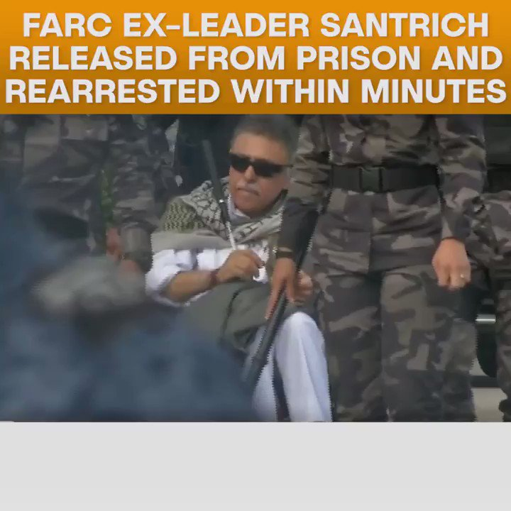 FARC leader, Jesus Santrich, was today released and then re-arrested, in what analysts have called a violation of the Colombian peace process.