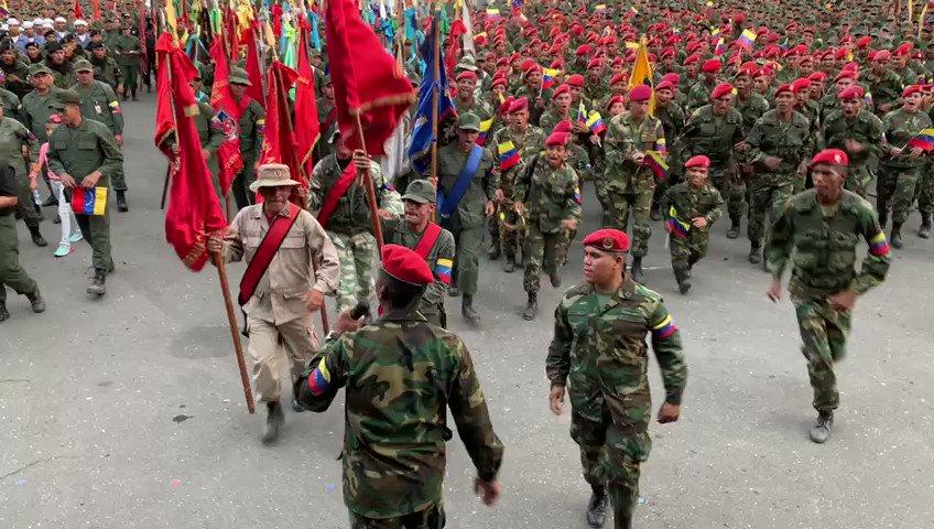 El imperio no cesará en sus intentos de doblegar nuestra voluntad de lucha y nuestra #FANB le seguirá dando lecciones de dignidad, coraje, valentía, moral y lealtad. ¡Somos dignos hijos de Bolívar y Chávez, carajo!