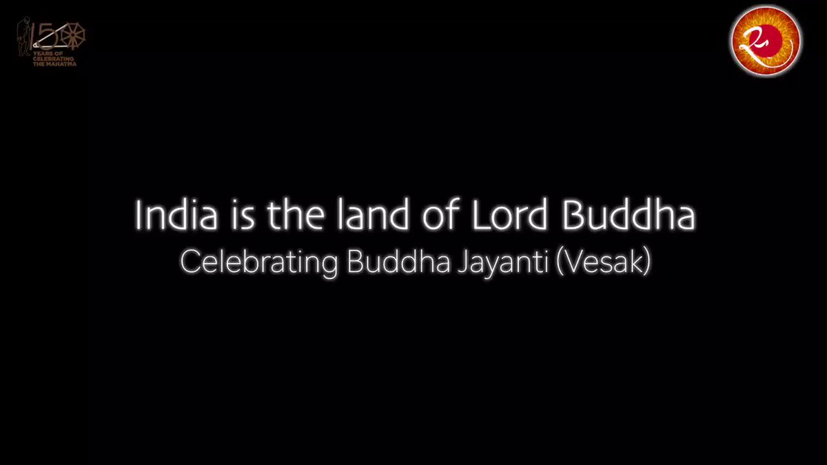 """This #BuddhaJayanti may enlighten everyone's future path with invoking the principles of peace and non-violence. """"Irrigators channel waters; fletchers straighten arrows; carpenters bend wood; the wise master themselves""""- Lord Buddha"""