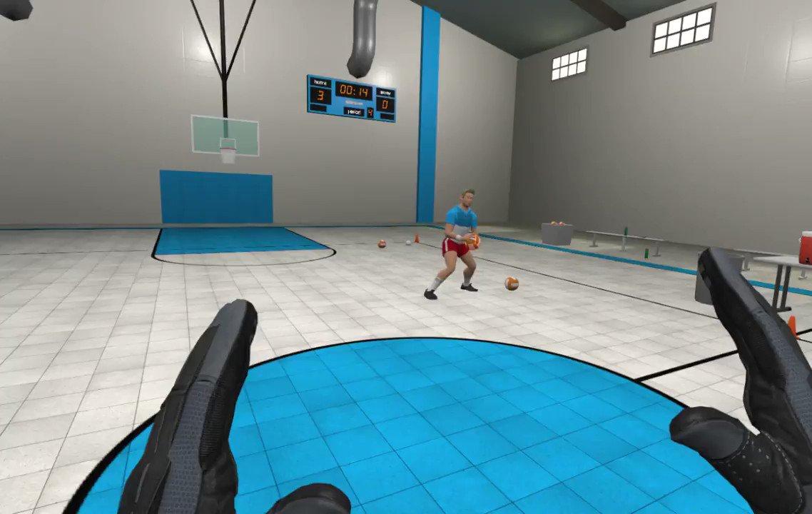 VRドッジボールを極め過ぎて、もうボールをキャッチする動作すら不要になってしまった。己の才能が恐ろしい....