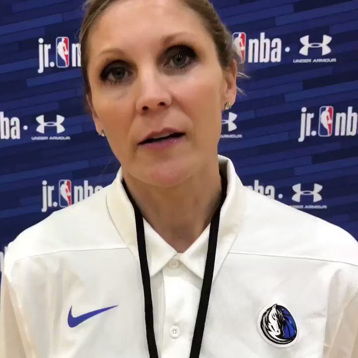 Jenny Boucek, assistant coach for the Dallas Mavericks, led a breakout session and talked about the importance of developing a dialogue for coaches of all levels. #JrNBAUAConference #HerTimeToPlay