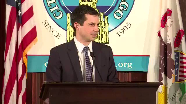 """Pete Buttigieg: """"We need to change the channel from the show that we've all been watching. And that's my response to this presidency."""" Via The Hill"""