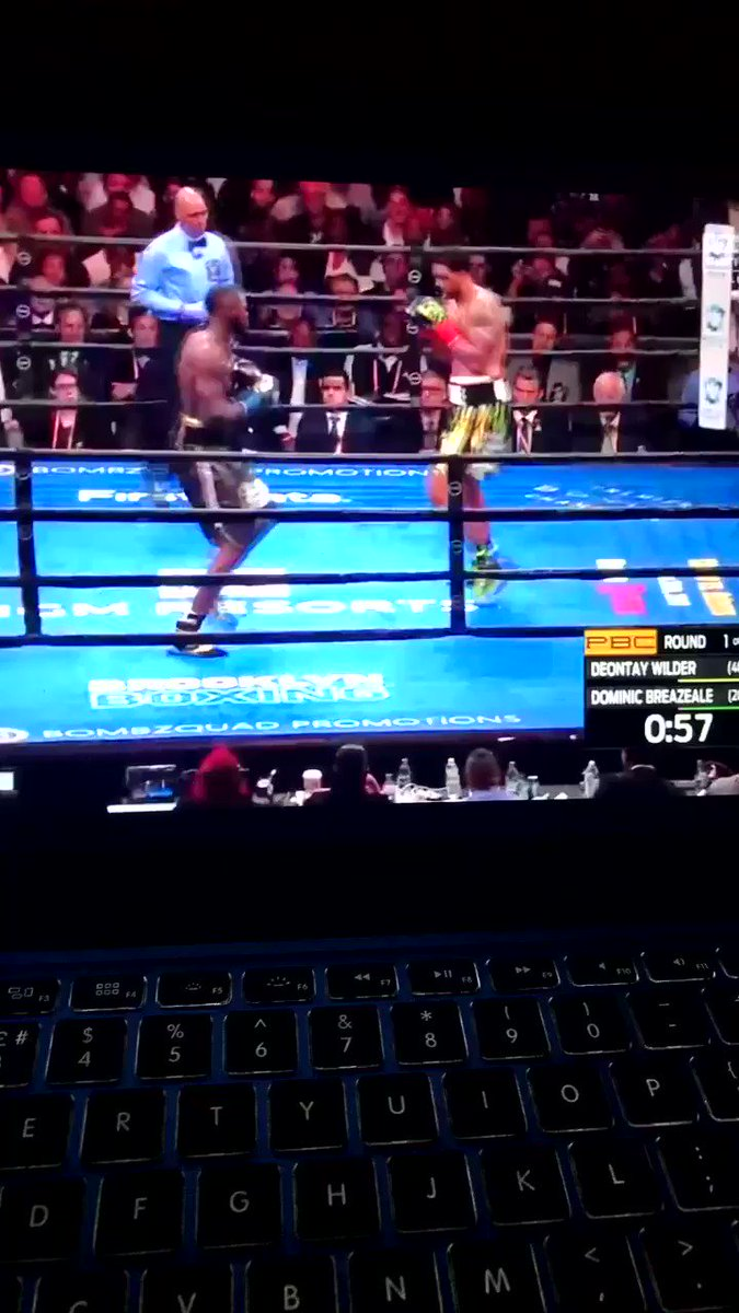 Deontay knocked out brazeale out in round 1 #DeontayWilder #Deontay_Wilder_vs_Dominic_Breazeale