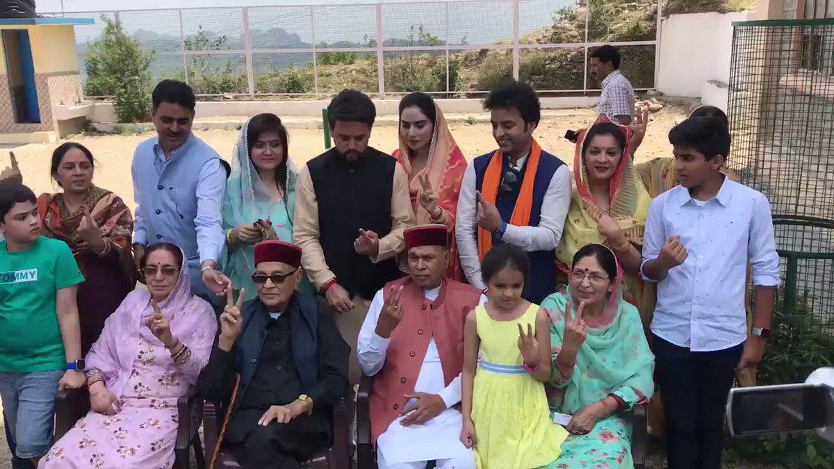 I HAVE VOTED 🗳   Have you?  #Hamirpur #LokSabhaEelctions2019