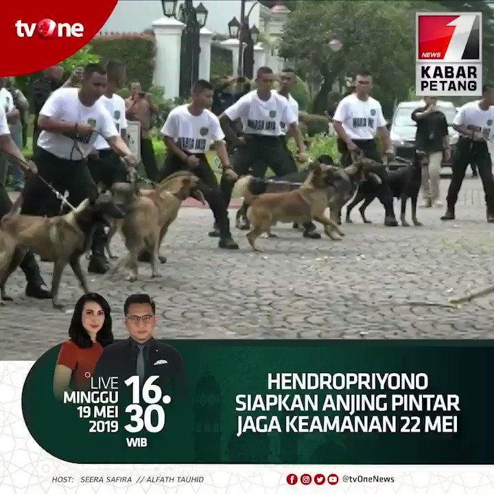Hendropriyono siapkan anjing pintar jaga keamanan 22 mei.Saksikan Kabar Petang jam 16.30 WIB hanya di  tvOne & streaming di tvOne connect, android http://bit.ly/2CMmL5z  & ios http://apple.co/2Q00Mfc #KabarPetangtvOne