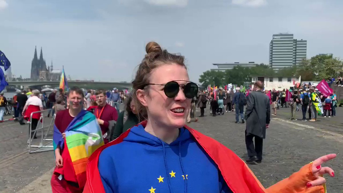 FOR EUROPE. AGAINST NATIONALISM. FOR OUR FUTURE. 🇪🇺✨🌈😘💖🙋🏼♀️💪🏽 Tens of thousands of people on the streets in Cologne and many other German and European cities. Resist. Stand up. Vote in the European elections. #EinEuropaFürAlle