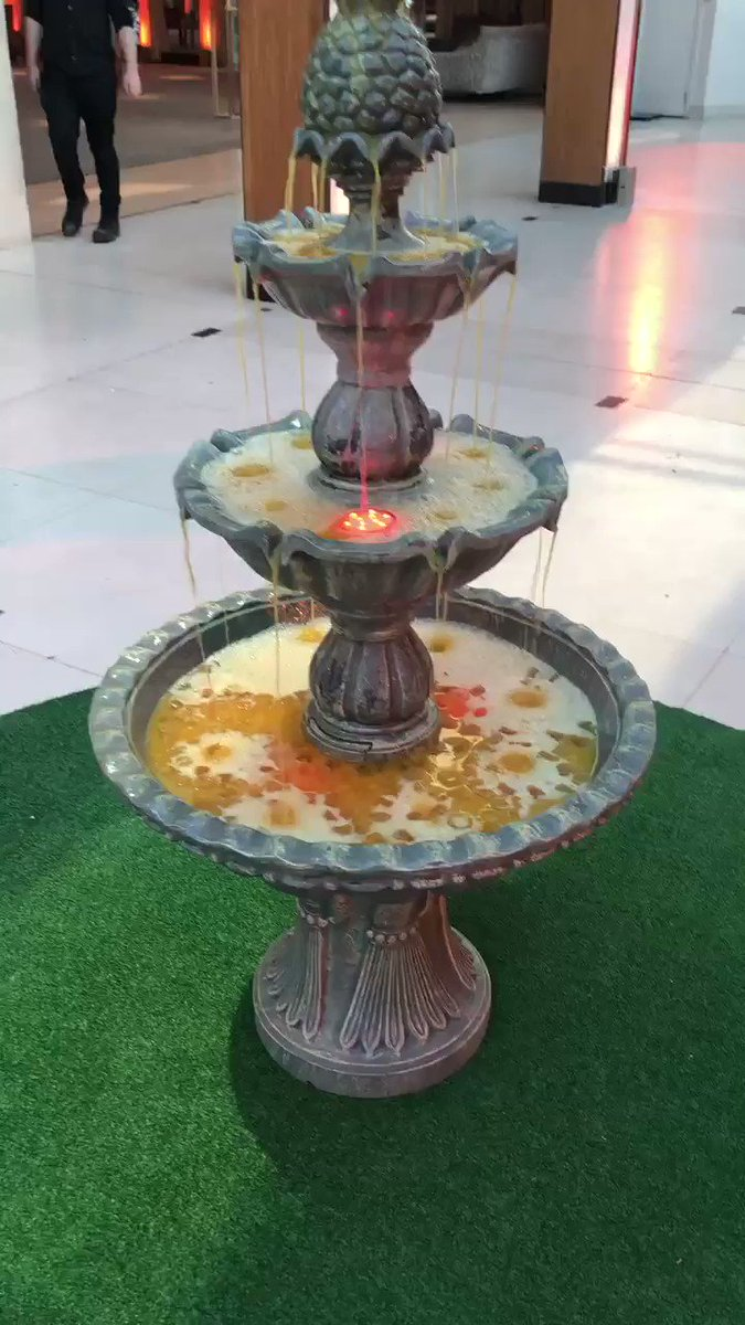 Image for the Tweet beginning: Our Tipsy Fountain filled with