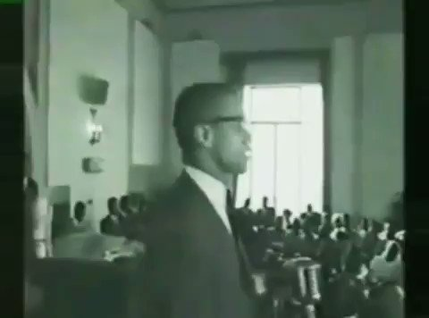 Malcolm X talks about the police state.