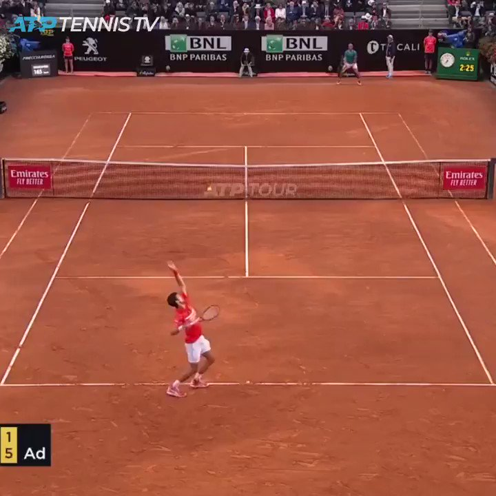 The 👑 of clay is back in business... Thats 34 #ATPMasters1000 🏆 for Rafa Nadal 👏 🎥 @TennisTV #ibi19
