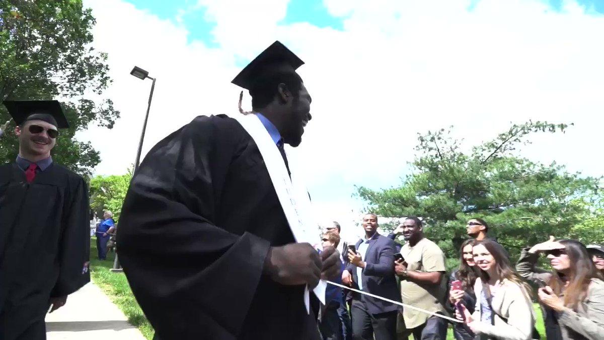 All-Big 12 on the field All-Big 12 in the classroom Graduates in 3 years   Hakeem Adeniji ladies and gentlemen 🙌🙌