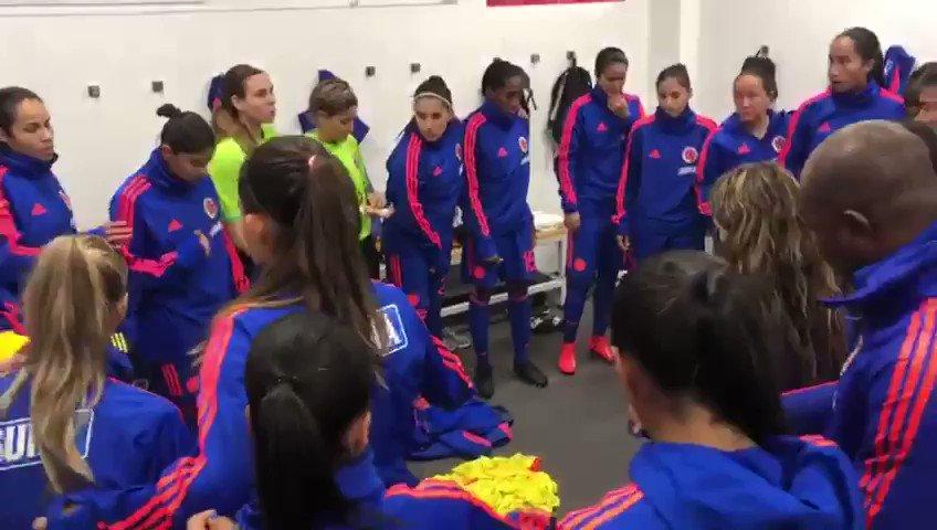 En minutos nuestra Selección Colombia Femenina de Mayores enfrentará su segundo amistoso de preparación frente a @LaRoja. 👊🏼🇨🇴