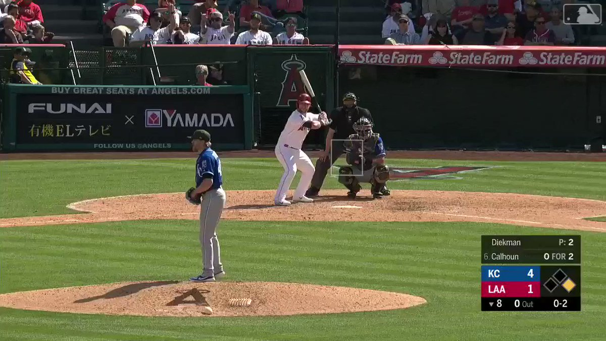 Three batters.Three swinging strikeouts.One intimidating @JakeDiekman.#AlwaysRoyal