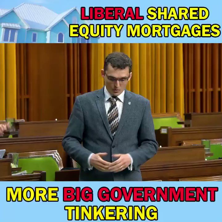 The Liberals' shared equity mortgage scheme is far from the solution to the #HousingAffordability crisis that this government created with the mortgage #StressTest. This Liberal proposal is simply an election gimmick. Also, classic big-government thinking! #B20 #Housing