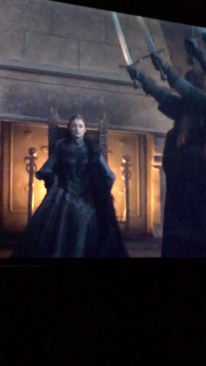 Sansa Stark Rainha do Norte dona da série, melhor personagem #GameofThronesFinale