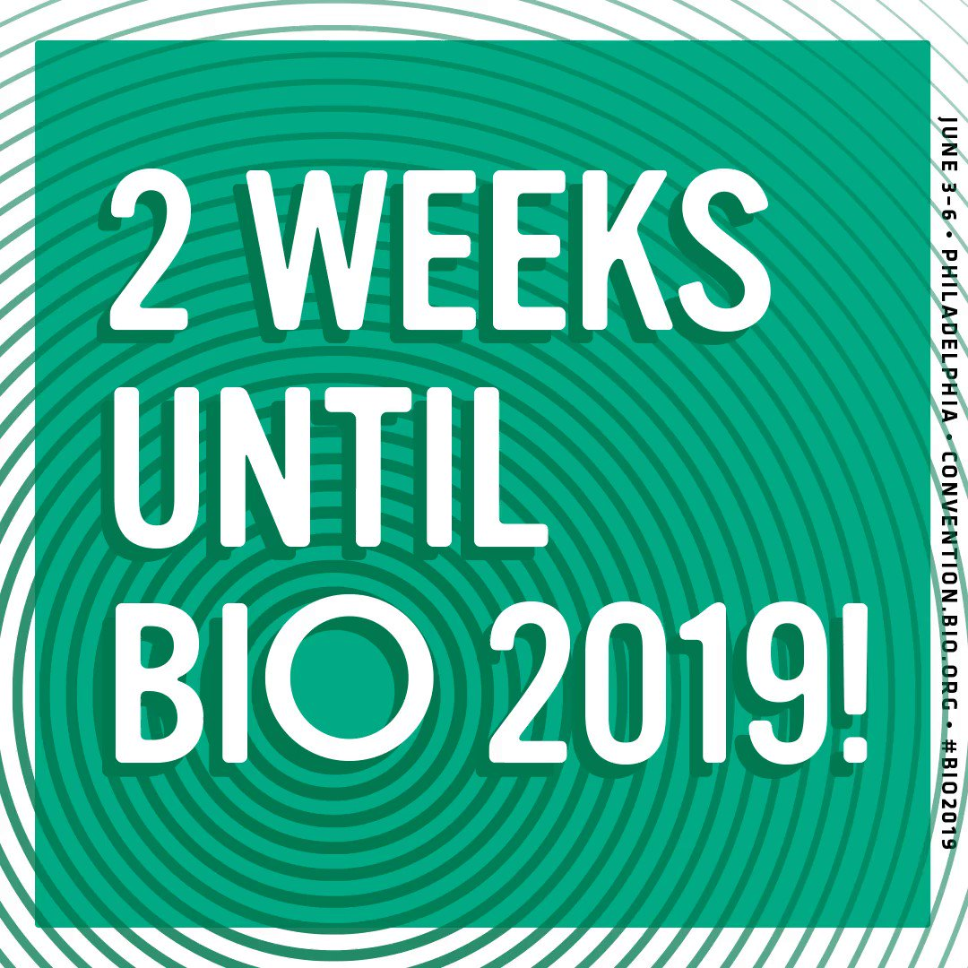 We're getting close to #BIO2019! In just 2 weeks the global biotech community will be in Philadelphia to celebrate the innovations that start with one. RT if you'll be there!
